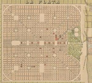 La Plata's square grid plan
