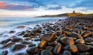 Dunstanburgh castle coast
