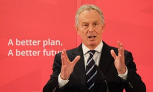 Tony Blair delivering his speech in Sedgefield