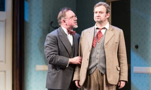 David Bamber as William R Chumley and James Dreyfus as Elwood P Dowd in Harvey at Theatre Royal, Haymarket, London.