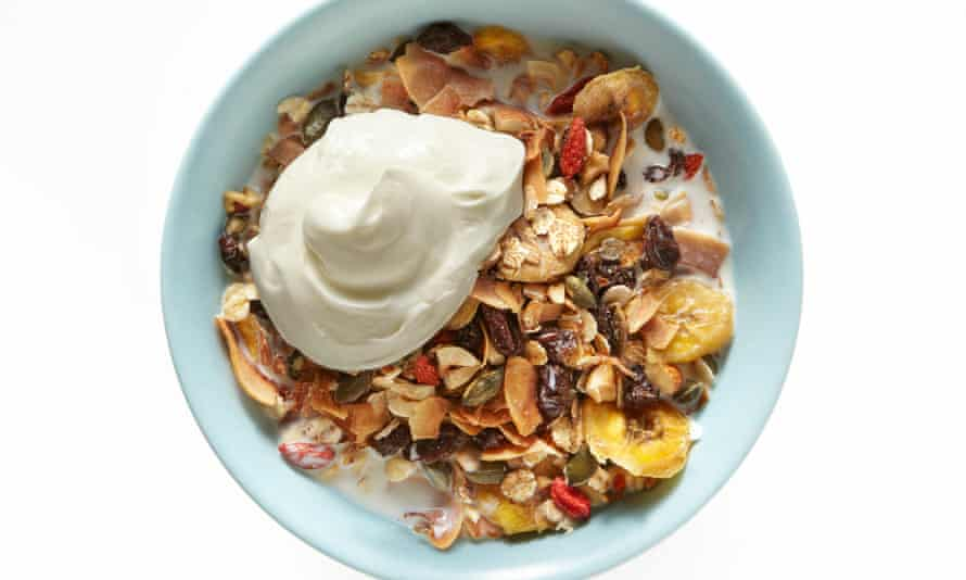 Thomasina Miers' toasted coconut muesli with almonds and hazelnuts: 'Toast the ingredients to bring out their flavour.'