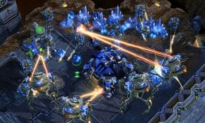 screenshot from the StarCraft II video game