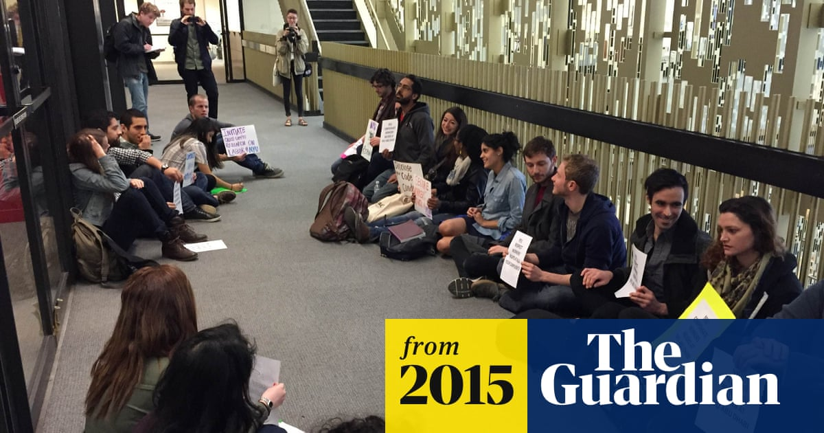 NYU student sit-in protests treatment of Abu Dhabi campus