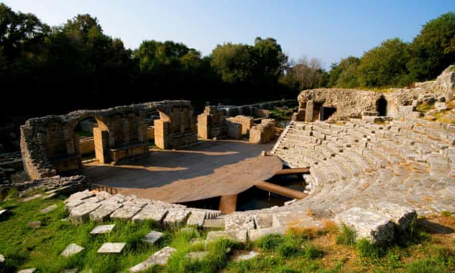 Greek amphitheatre in Butrint national park.