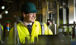 George Osborne visits the Britvic factory in Leeds this month.