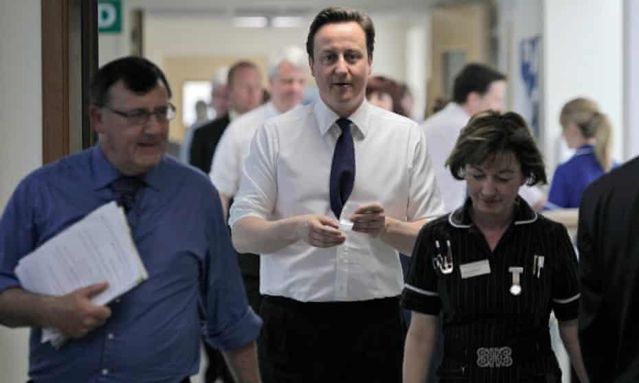 David Cameron during a visit to Frimley Park hospital.