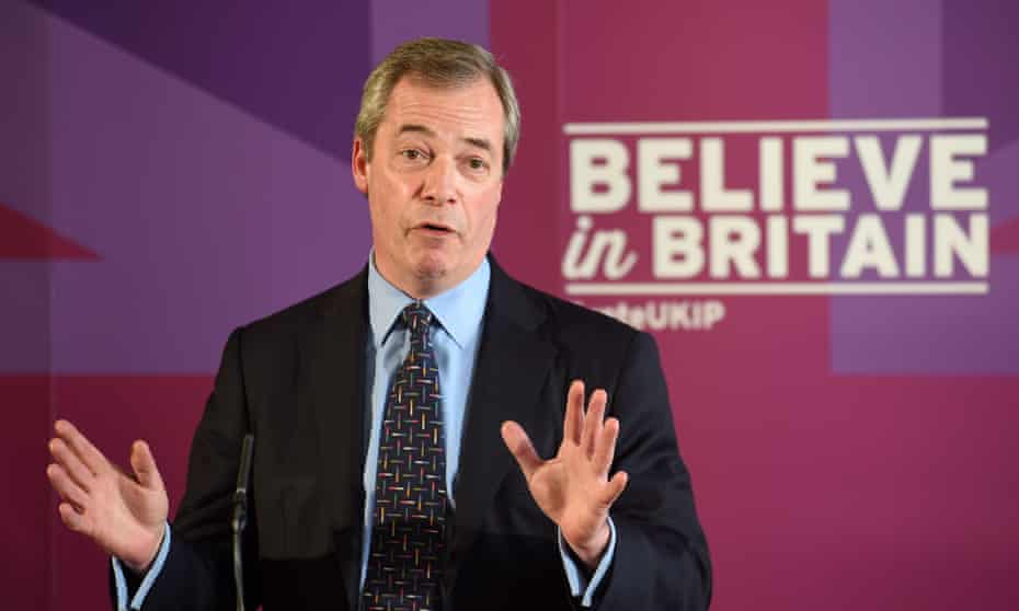 Ukip leader Nigel Farage gives a speech on defence to party supporters at Himley Hall, near Dudley