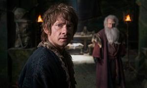 Martin Freeman as Bilbo Baggins in The Hobbit: The Battle of the Five Armies, the final instalment o