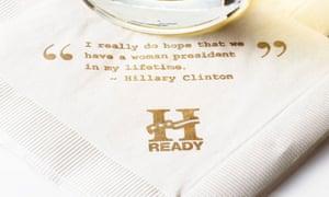 hillary clinton napkins