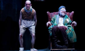 Tom Budge and Hugo Weaving in Sydney Theatre Company's production of Endgame.