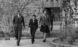 Royal flush:  Prince Charles arrives for his first term at Gordonstoun in 1962, with Prince Philip (left) and Captain Iain Tennant.