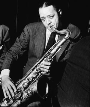American jazz saxophonist Lester Young, New York City, December 1940.
