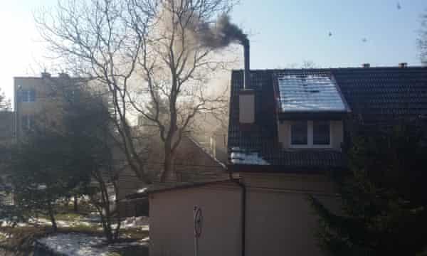 A photograph by Monika Bielak documenting her neighbours' pollution.