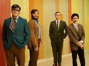 Harry Crane (Rich Sommer), Stan Rizzo (Jay R. Ferguson), Ken Cosgrove (Aaron Staton) and Michael Michael Ginsberg (Ben Feldman) - Mad Men series 7