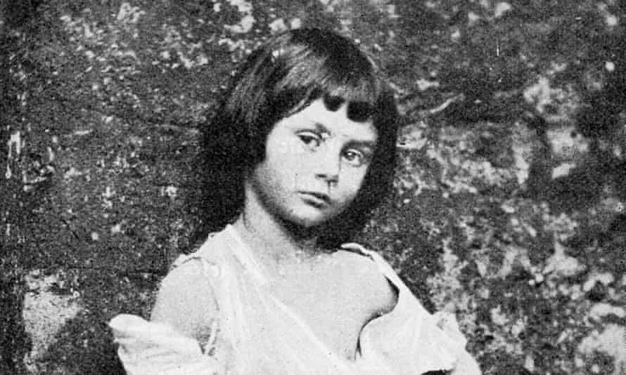 Alice Liddell as a beggar child - photograph taken by Lewis Carroll, 1858.