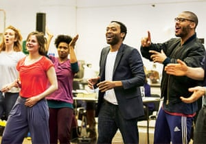 Chiwetel Ejiofor in rehearsal for Everyman