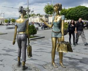 Kitsch statues in Skopje