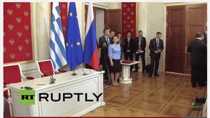 Putin/Tsipras press conference