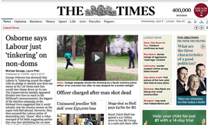 Access to the Times websites, tablet edition and smartphone app costs from £6 a week