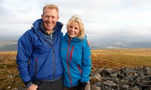 Secret Britain presenters Adam Henson and Ellie Harrison in the Brecon Beacons