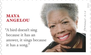 The limited edition Maya Angelou stamp.