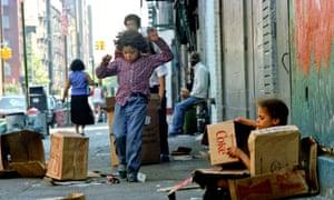 Poor children in New York City