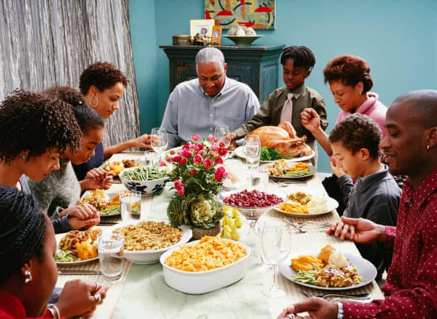 African-American family Thanksgiving meal