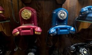 Antique telephone exhibition