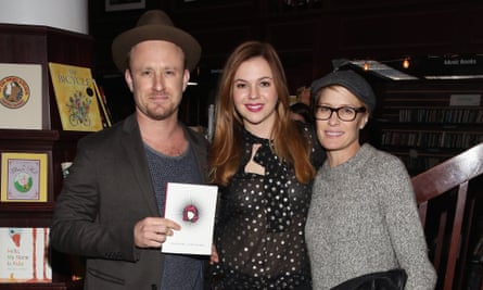 Ben Foster, Amber Tamblyn and Robin Wright at Housing Works.