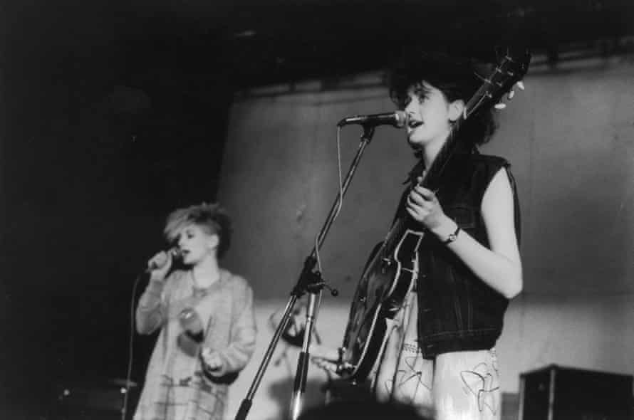 Tracey Thorn playing with her first band Marine Girls in 1983.