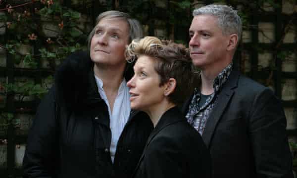 ENO's Between Worlds collaborators (left to right) Deborah Warner, Tansy Davies and Nick Drake.