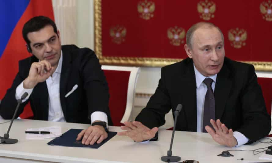 'We openly disapproved of the sanctions. It is not an efficient solution,' said Alexis Tsipras in a press conference with Vladimir Putin.