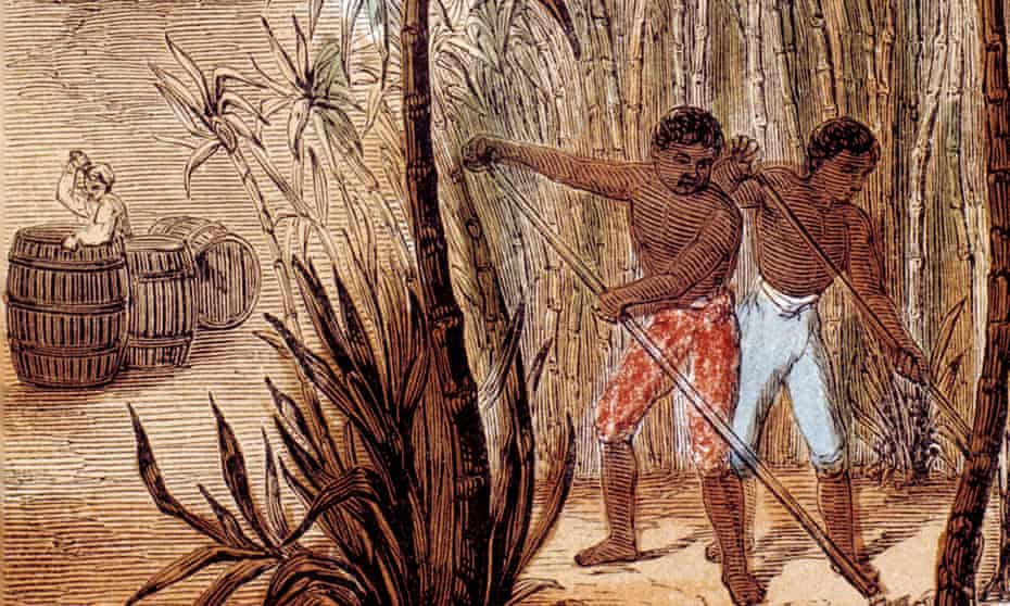 Slaves cultivating sugarcane in the Caribbean, from The Wonders of Home by Grandfather Grey, 1852. The non-dom exemption was introduced with income tax in 1799, to encourage outward investment in businesses such as Jamaica's sugarcane or Virginia's tobacco plantations.