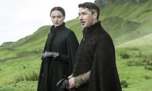 "Sophie Turner, as Sansa Stark, left, and Aidan Gillen, as Petyr ""Littlefinger"" Baelish"