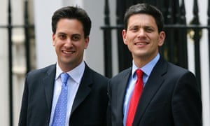 Ed Miliband with his brother David, before their battle for the Labour leadership