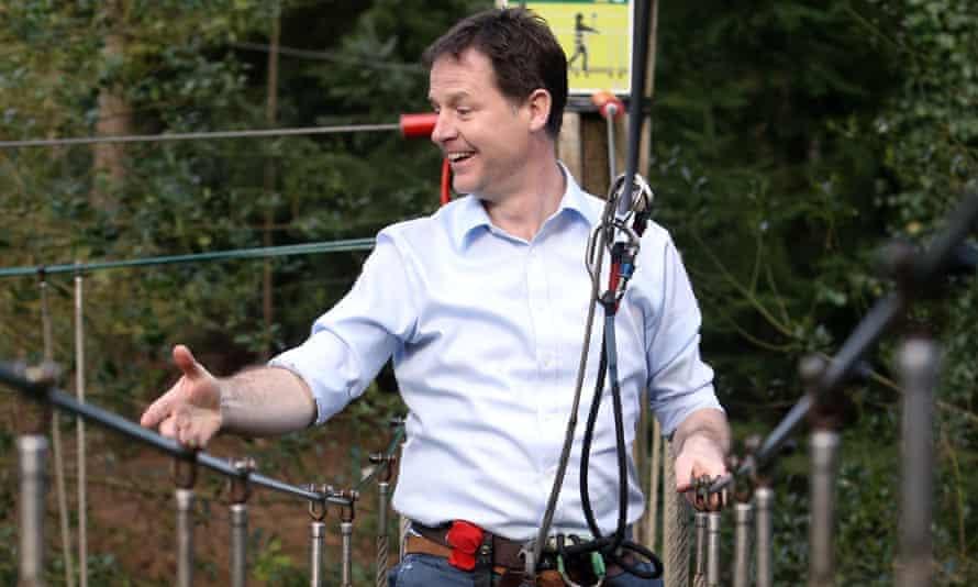 Nick Clegg at Go Ape