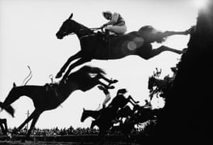 1983 Horses and riders take on Becher's Brook