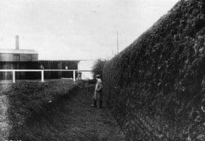 1907 The landing side of Becher's Brook, a controversial fence because of the size and angle of the drop, although it has been modified in recent years