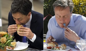 Ed Miliband and the infamous bacon sandwich: David Cameron and the notorious hot dog