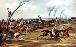 1839 This was the first official running of the race that later became known as the Grand National. Pictured is the scene at Becher's Brook, now so named because it was christened by Captain Martin Becher falling from his horse, Conrad, into the brook