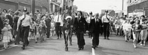 1978 Crowds turn out to see Red Rum in June when he visited Cleethorpes High Street during a promotional tour following his retirement earlier in the year