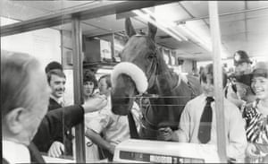 1978 Stoke Newington was another venue on Red Rum's tour, where he took part in a presentation to manager Les Appleton and his staff, who had been judged as running 'the most efficient betting shop in Britain'
