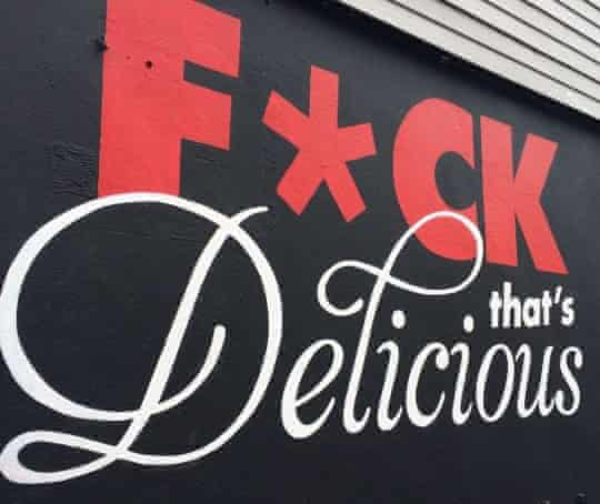 The slogan on Sweet Chick's outer wall.