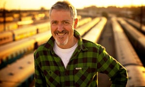 Wry comedic travelogue … Griff Rhys Jones in Slow Train Through Africa. Photograph: Chris Gibbions/I