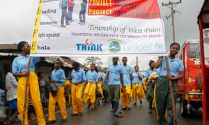 Youngsters in the township of West Point take a leading role in the effort to bring the Ebola outbreak in Liberia under control.