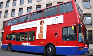 A Dove advert on a London bus