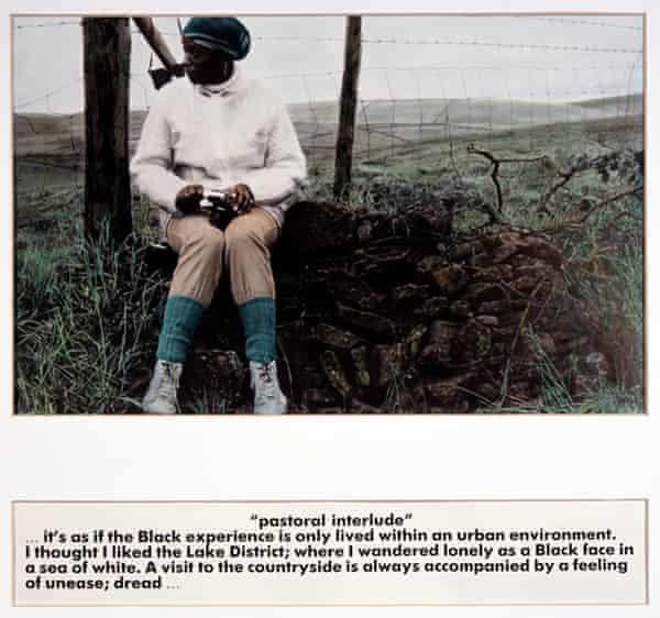 An image from Ingrid Pollard's <em>Pastoral Interlude </em>series.