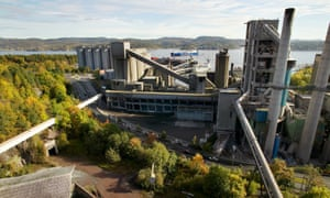 NORCEM Cement plant in Brevik, Norway