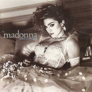 Madonna on the cover of Like A Virgin
