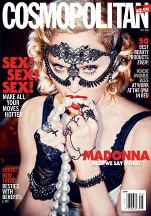 Madonna on cover of US edition of Cosmopolitan